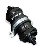 FUELAB: 858 SERIES IN-LINE FUEL FILTER WITH CHECK VALVE: -8AN INLET/OUTLET